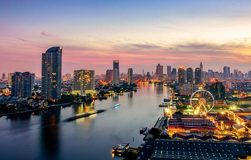 """Bangkok Night View, Asiatigue"""