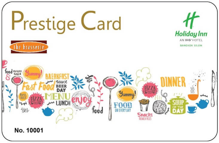 Prestige Card at The Brasserie - Holiday Inn Bangkok Silom